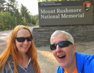 Jen & Ran at Mt. Rushmore