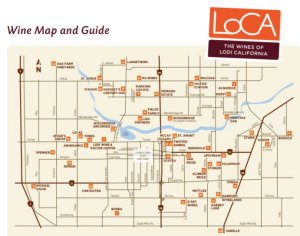 Lodi winery map