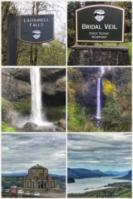 Bridal Veil and Latourell Falls