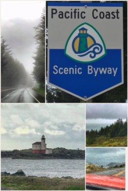 stormy, rainy Oregon coast