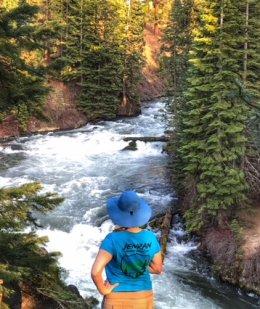 Jen at Benham Falls Trail