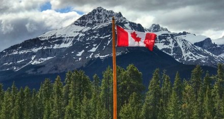 Canada Flag; Canadian Rockies