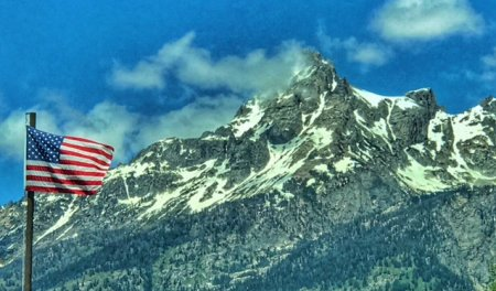 Grand Teton National Park -- U.S. Flag