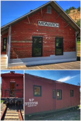 Monarch, MT, train depot restoration