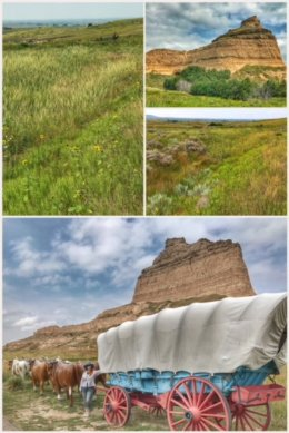 Oregon Trail at Scotts Bluff National Monument