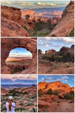 Arches National Park; Landscape Arch Trail