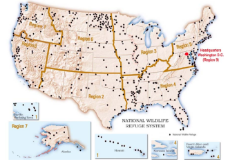 National Wildlife Refuges map
