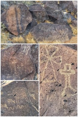 Spanish shepard petroglyphs, New Mexico.