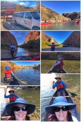 Canoeing the Rio Grande River, Big Bend Ranch State Park