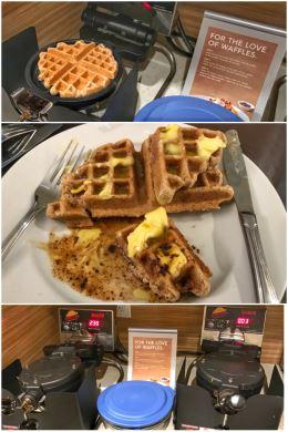 Almond-flour keto waffles
