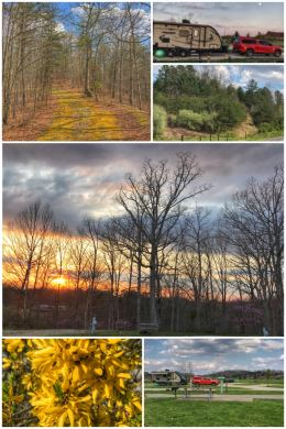 campground collage